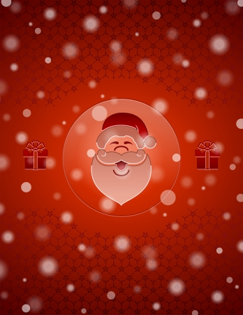 Christmas snow background with Santa Claus and gifts  New Year backdrop with christmas symbols and falling snow  Qualitative vector  EPS-10  backdrop for new year s day, christmas, decoration, winter holiday, design, new year s eve, silvester, etc
