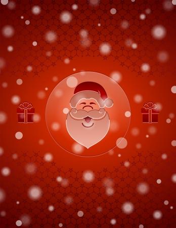 Kerst sneeuw achtergrond met Santa Claus en geschenken Nieuwjaar achtergrond met kerst symbolen en vallende sneeuw Kwalitatieve vector EPS-10 achtergrond voor dag van het nieuwe jaar s, Kerstmis, decoratie, de winter vakantie, ontwerp, nieuwe jaar s vooravond, silvester, etc Stock Illustratie