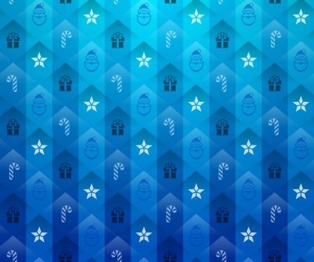 Christmas blue background  New Year blue pattern with star and gift  Qualitative vector  EPS-10  backdrop for new year s day, christmas, decoration, winter holiday, design, new year s eve, silvester, etc Ilustração