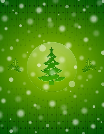 Christmas snow background with christmas tree and holly berry  New Year backdrop with christmas symbols and falling snow  Qualitative vector  EPS-10  backdrop for new year s day, christmas, decoration, winter holiday, design, new year s eve, silvester, et