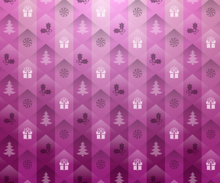 Christmas pink background Vector