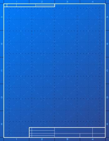 Papel plano en blanco para redactar disposición de la hoja de dibujo con marco y cajetín vector cualitativa EPS-10 de fondo para dibujo técnico, ingeniería, diseño, proyecto, elaboración, proceso de desarrollo, etc