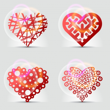 Creative collection of heart signs  icons, symbols  Vector