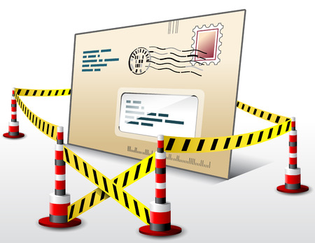 Mail located in restricted area Stock Vector - 24697443