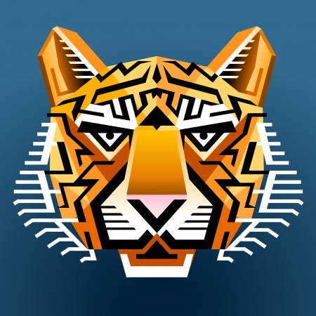 panthera: Geometric tiger Illustration