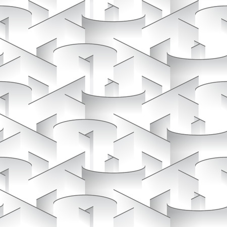 arcs: Abstract grayscale pattern, Vector seamless repeating pattern with combination of lines and arcs