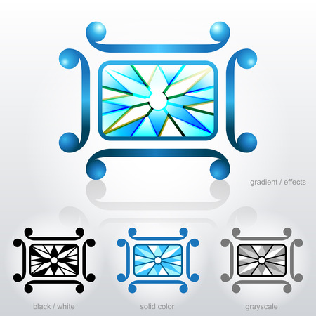 bezel: Diamond in a square frame