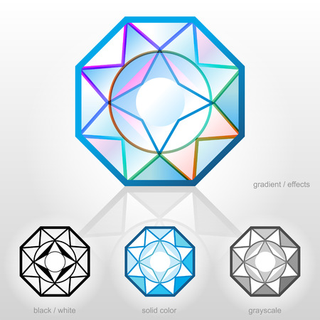 zircon: Diamond in top view