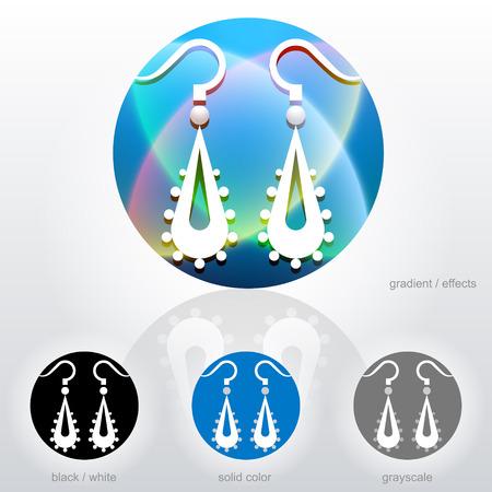 dangle: Stylized sign of dangle earrings Illustration