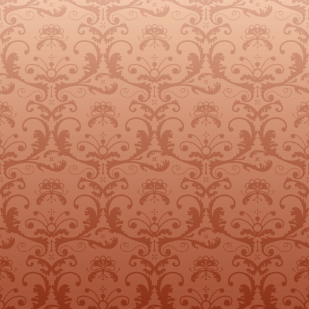 qualitative: Retro pattern in vintage style  Seamless baroque ornament with floral elements in bronze color  Qualitative vector  EPS-10  vintage pattern for background, wallpaper, textile, etc