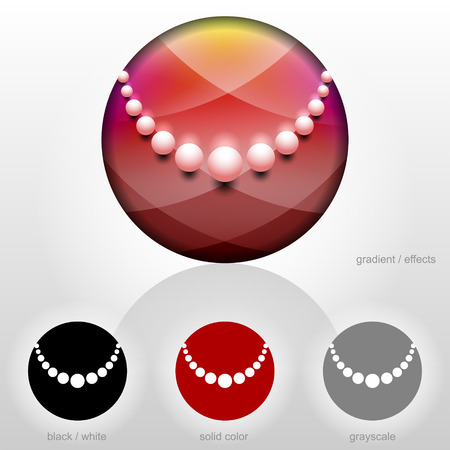 qualitative: Symbol for jewelry industry companies  Stylized sign of beads necklace  Qualitative vector  EPS-10  identity symbol for company of jewellery industry, fashion, luxury, accessories, etc