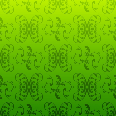green swirl: Retro pattern in vintage style