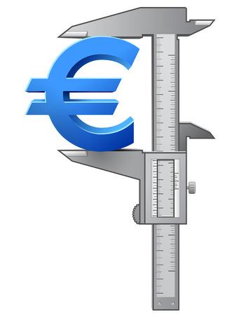 caliper: Caliper measures euro symbol