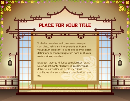 Graphic layout with traditional thai elements   Illustration