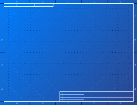 Blank blueprint paper for drafting  Drawing sheet layout with frame and title block