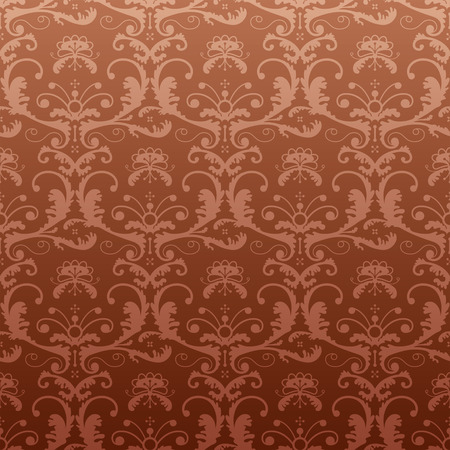 backcloth: Dark repeating pattern in vintage style Illustration