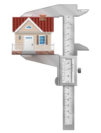 caliper: Caliper measures house