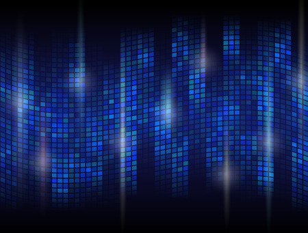 oscillation: Fondo oscuro abstracto con mosaico ondulado. Ola Tessellated con efectos llamaradas