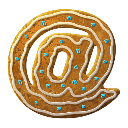 www tasty: Gingerbread mail symbol decorated colored icing.  Cookie in shape of email sign