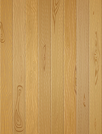 wood deck: Vertical planks with wood texture. Wood background of light brown panels.  Illustration
