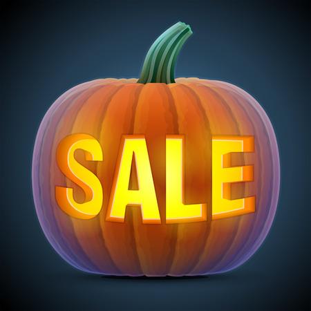 cucurbita: Halloween pumpkin with carving.