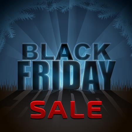 다시 조명 효과와 블랙 프라이데이 판매 요소입니다. 크리스마스 판매 발표를위한 디자인. 크리스마스, 판매, 새 해의 날, 할인, 겨울 휴가 쇼핑 시즌,