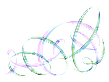 qualitative: Abstract spiral stripes in form of loops and arcs. Combination lines and ribbons for abstract background. Qualitative vector graphic for various design