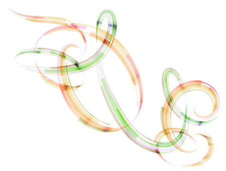 annular: Abstract spiral stripes in form of loops and arcs. Combination lines and ribbons for abstract background. Qualitative vector graphic for various design, etc