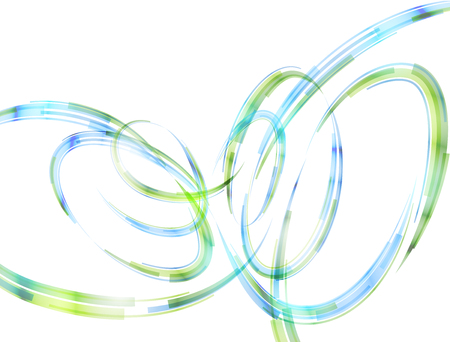 Abstract spiral stripes in form of loops and arcs. Combination lines and ribbons for abstract background. Best vector graphic for various design, illustration, art decor, etc