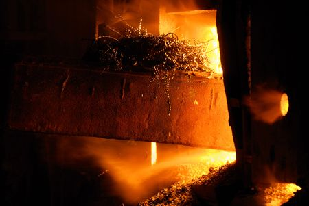 Scrap metal  before remelting in a iron-and-steel furnace. Ukrainian metallurgical works Stock Photo - 6252584