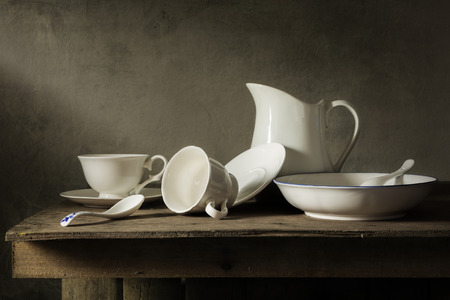 tableware life: Still life with tableware