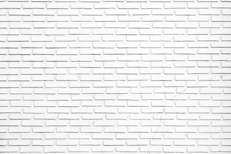 White brick wall texture as a background Archivio Fotografico