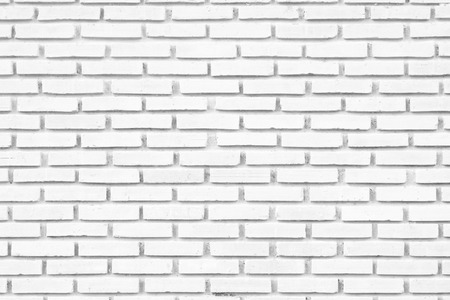 White brick wall as a background