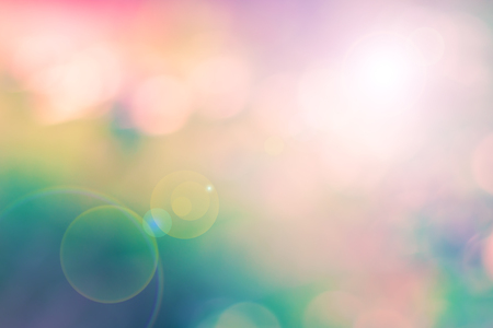 lens: Blur colorful image as a background with lens flare effect