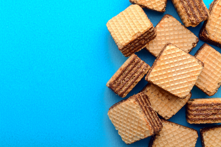 Wafer filled with cocoa cream