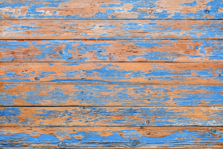 Distressed blue rustic pallet wood backdrop Banco de Imagens
