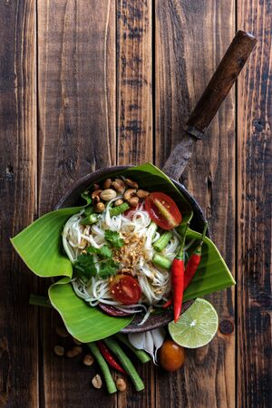 Papaya salad recipe ingredients, Somtum Archivio Fotografico