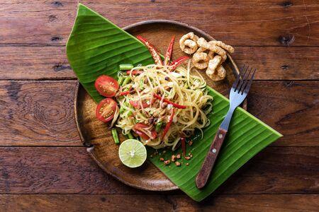 Papaya salad recipe ingredients, Somtum Standard-Bild