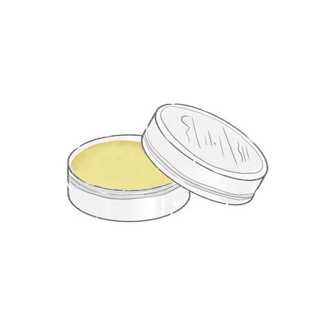 Hand cream and kneaded perfume. Cute and simple art style. On a white background. Vetores