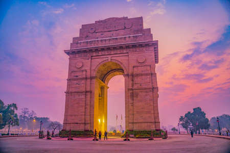 The India Gate is a war memorial located astride the Rajpath