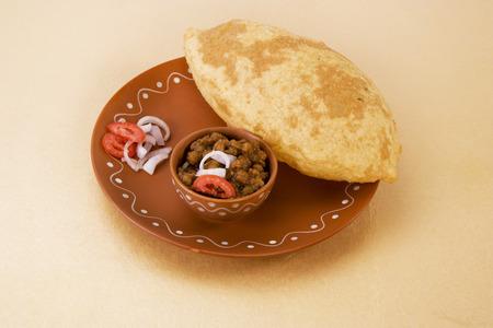 chaat: Chana masala with puri or chole bhature