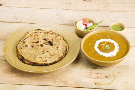 paratha: Dal Makhani with Paratha or Indian Bread