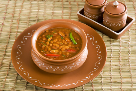 rajma: Rajma or Red kidney beans, Indian Dish Stock Photo