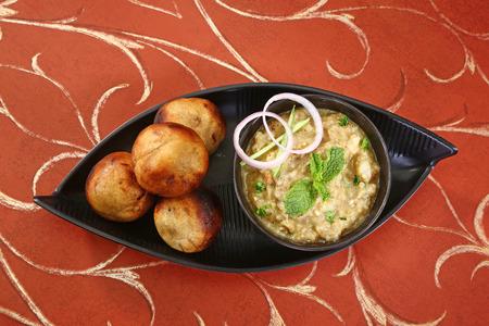 Litti Chokha or Bihari Food Sattu Litty, Indian Food Stockfoto