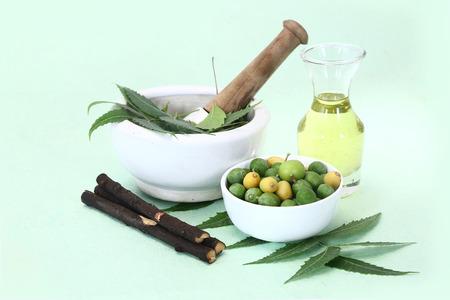Indian Ayurvedic Neem and Oil, Indian Ayurvedic