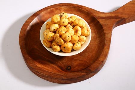 Roasted Phool Makhana or Crispy Lotus pops Seed Stok Fotoğraf