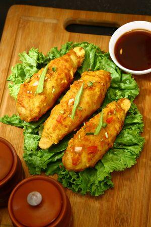 Masala Tawa Chaap or Soya Chaap, Indian Dish Stok Fotoğraf