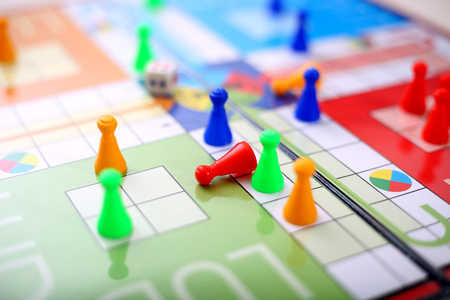 Picture of ludo game. Stock Photo