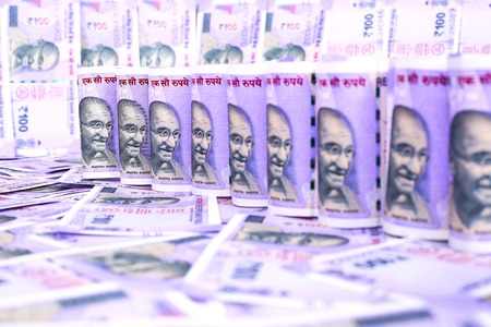 New 100 Indian rupee currency .
