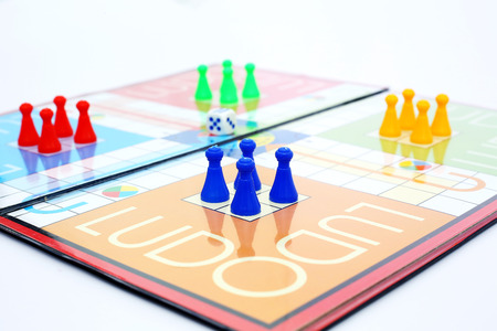 Picture of ludo board family game. Stock Photo